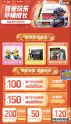 当618遇见儿童节 京东超市玩具乐器成交额5分